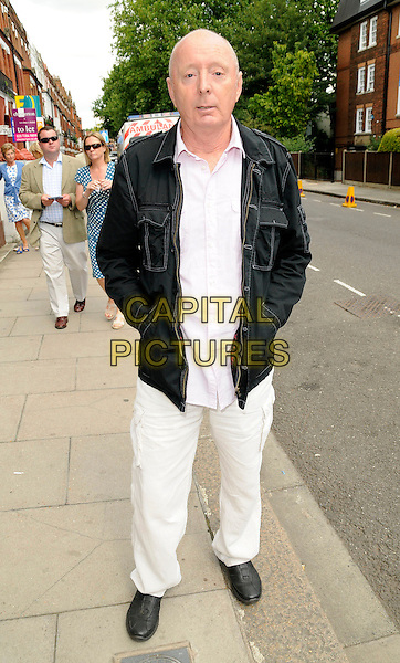 JASPER CARROTT.At the Aegon Queen's Club Tennis Championship Final, Queen's Club, Palliser Road, London, England, UK, June 14th 2009..full length black jacket shirt white shirt trousers trainers shoes hands in pockets .CAP/CAN.©Can Nguyen/Capital Pictures