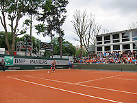 France, Paris, 28.05.2014. Tennis, French Open, Roland Garros, Kiki Bertens (NED) in a overal view of court five<br /> Photo:Tennisimages/Henk Koster