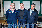 Kenneth Nolan, Donal Driscoll and Brendan Doody at the Crotta O'Neills Juvenile Awards evening in Kilflynn on Friday evening.