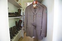 Hemingway's War Correspondent uniform and boots at Finca Vigia, San Francisco de Paula, Cuba