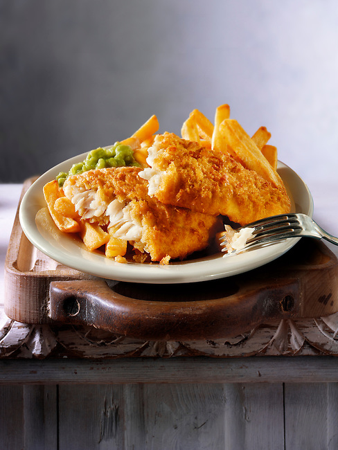 British Food - Battered Fish & Chips