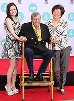 HOLLYWOOD, LOS ANGELES, CA, USA - APRIL 12: Danielle Sarah Lewis, Jerry Lewis, SanDee Pitnick at the Jerry Lewis Hand And Footprint Ceremony during the 2014 TCM Classic Film Festival held at the TCL Chinese Theatre IMAX on April 12, 2014 in Hollywood, Los Angles, California, United States. (Photo by Xavier Collin/Celebrity Monitor)
