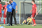 GER - Mannheim, Germany, May 27: During the men semi-final match between Rot-Weiss Koeln and Harvestehuder THC at the Final4 tournament May 27, 2017 at Am Neckarkanal in Mannheim, Germany. (Photo by Dirk Markgraf / www.265-images.com) *** Local caption *** Tobias Hauke #13 of Harvestehuder THC