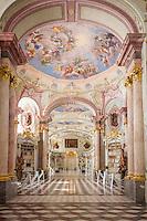 Austria, Styria, Admont: Admont Abbey, monastic library, the largest of the world | Oesterreich, Steiermark, Admont: Stift Admont, Stiftsbibliothek, groesste Klosterbibliothek der Welt
