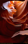 Chimney, Upper Antelope Canyon, Tse-Bighanilini, Slot Canyon, Lake Powell Navajo Tribal Park, Page, Arizona