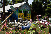 May 23, 2008. Bynum, NC.. The found wood critters in the yard of artist and sculptor Clyde Jones.