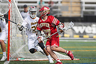 Towson, MD - March 25, 2017: Denver Pioneers Ethan Walker (57) in action during game between Towson and Denver at  Minnegan Field at Johnny Unitas Stadium  in Towson, MD. March 25, 2017.  (Photo by Elliott Brown/Media Images International)