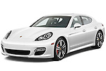 Front three quarter view of a 2010 Porsche Panamera Turbo.