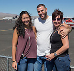 Rachel Loadholt, Thai Ivery and Kirstin Loadholt, from Sparks, at the Air Races at the Reno-Stead Airfield on Sunday, Sept. 20, 2015.