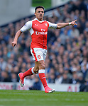 Alexis Sanchez of Arsenal during the English Premier League match at the White Hart Lane Stadium, London. Picture date: April 30th, 2017.Pic credit should read: Robin Parker/Sportimage