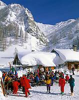 DEU, Deutschland, Bayern, Oberbayern, Berchtesgadener Land, Jenner Skigebiet - Skihuette Mittenkaseralm | DEU, Germany, Bavaria, Upper Bavaria, Berchtesgadener Land, Jenner ski region - ski hut Mittenkaseralm