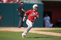 J.T. Jarrett (42) of the North Carolina State Wolfpack hustles down the first base line against the Army Black Knights at Doak Field at Dail Park on June 3, 2018 in Raleigh, North Carolina. The Wolfpack defeated the Black Knights 11-1. (Brian Westerholt/Four Seam Images)