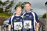Elish Hughes and David Hughes at the Run the Kingdom Camp 10 mile summer trail in aid of the The Irish Heart Foundation on Saturday