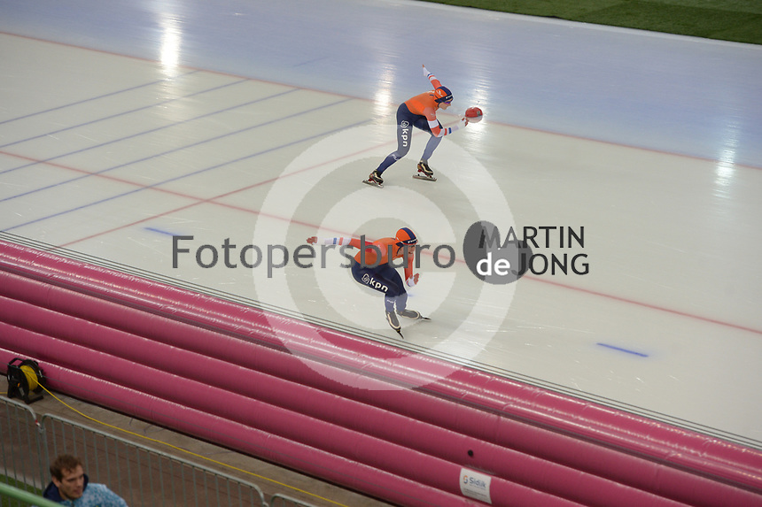 SPEED SKATING: HAMAR: Viking Skipet, 02-02-2019, ISU World Cup Speed Skating, Isabelle van Elst (NED), Floor van den Brandt (NED), ©photo Martin de Jong