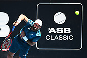 9th January 2018, ASB Tennis Centre, Auckland, New Zealand; ASB Classic, ATP Mens Tennis;  Steve Johnson (USA) during the ASB Classic ATP Men's Tournament Day 2