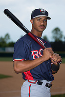 Ray-Patrick Didder (11) of the Rome Braves poses for a photo prior to the game against the Hickory Crawdads at L.P. Frans Stadium on May 12, 2016 in Hickory, North Carolina.  The Braves defeated the Crawdads 3-0.  (Brian Westerholt/Four Seam Images)