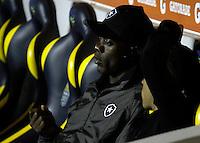 ATENCAO EDITOR FOTO DE ONTEM DIA 01/08/2012.<br /> BARUERI, SP, 01 AGOSTO 2012 - COPA SULAMERICANA - PALMEIRAS - BOTAFOGO -  O jogador holandes Seedorf e visto antes da partida entre Palmeiras x Botafogo pela Copa Sulamericana, ontem dia 01, na Arena Barueri na grande Sao Paulo. FOTO: ALE VIANNA / BRAZIL PHOTO PRESS).