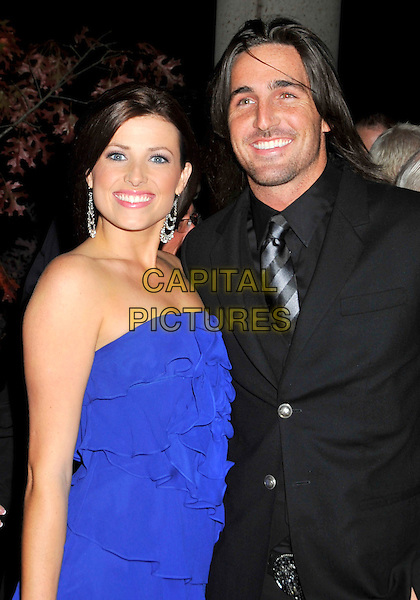 GUEST & JAKE OWEN.BMI's 56th Annual Country Awards held at BMI Music Row, Nashville, Tennessee, USA..November 11th, 2008.half length blue dress strapless black jacket .CAP/ADM/LF.©Laura Farr/AdMedia/Capital Pictures.