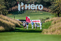 Jeunghun Wang (KOR), Marc Warren (SCO) and Arjun Atwal (IND) in action on the 7th during Round 1 of the Hero Indian Open at the DLF Golf and Country Club on Thursday 8th March 2018.<br /> Picture:  Thos Caffrey / www.golffile.ie<br /> <br /> All photo usage must carry mandatory copyright credit (&copy; Golffile | Thos Caffrey)