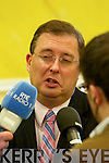 Thomas McEllistrim at the North Kerry, West Limerick Election 2011 count at the Brandon Hotel Tralee on Saturday.