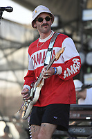 FORT LAUDERDALE BEACH, FL - DECEMBER 02: John Gourley of Portugal The Man performs during The Riptide Music Festival on December 2, 2017 in Fort Lauderdale Beach Florida. Credit: mpi04/MediaPunch