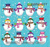 Kate, CHRISTMAS SANTA, SNOWMAN, WEIHNACHTSMÄNNER, SCHNEEMÄNNER, PAPÁ NOEL, MUÑECOS DE NIEVE, paintings+++++Christmas page 37,GBKM507,#x#