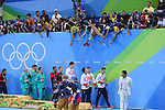 General view, <br /> AUGUST 13 2016 - Swimming : <br /> Men's 4x100m Medley Relay Medal Ceremony  <br /> at Olympic Aquatics Stadium <br /> during the Rio 2016 Olympic Games in Rio de Janeiro, Brazil. <br /> (Photo by Yohei Osada/AFLO SPORT)