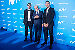Antoine Griezmann, Enrique Cerezo and Lucas Hernandez attends to blue carpet of presentation of new schedule of Movistar+ at Queen Sofia Museum in Madrid, Spain. September 12, 2018. (ALTERPHOTOS/Borja B.Hojas)