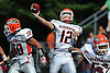 Carey quarterback No. 12 Mike Catanese throws a pass during the second quarter of a Nassau County Conference II varsity football game against host Garden City High School on Saturday, September 19, 2015. Garden City won by a score of 38-7.<br /> <br /> James Escher