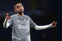 Hakim Ziyech of Ajax ahead of kick-off during Chelsea vs AFC Ajax, UEFA Champions League Football at Stamford Bridge on 5th November 2019