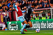 10th September 2017, Turf Moor, Burnley, England; EPL Premier League football, Burnley versus Crystal Palace; Lee Chung-yong of Crystal Palace takes the ball down the touchline covered by Matthew Lowton of Burnley