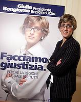 20130118 ROMA-POLITICA: GIULIA BONGIORNO CANDIDATA ALLA PRESIDENZA DELLA REGIONE LAZIO
