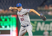 New York Mets relief pitcher Paul Sewald (51) works in the ninth inning against the Washington Nationals at Nationals Park in Washington, D.C. on Tuesday, September 3, 2019.  The Nationals won the game 11-10.<br /> Credit: Ron Sachs / CNP<br /> (RESTRICTION: NO New York or New Jersey Newspapers or newspapers within a 75 mile radius of New York City)