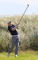 Ronan Mullarney (Galway) on the 6th tee during the Final of the AIG Irish Amateur Close Championship 2019 in Ballybunion Golf Club, Ballybunion, Co. Kerry on Wednesday 7th August 2019.<br /> <br /> Picture:  Thos Caffrey / www.golffile.ie<br /> <br /> All photos usage must carry mandatory copyright credit (© Golffile | Thos Caffrey)