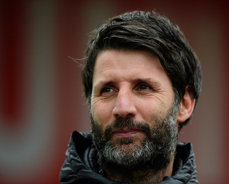 Lincoln City manager Danny Cowley prior to the game<br /> <br /> Photographer Chris Vaughan/CameraSport<br /> <br /> The EFL Sky Bet League Two - Lincoln City v Grimsby Town - Saturday 19 January 2019 - Sincil Bank - Lincoln<br /> <br /> World Copyright &copy; 2019 CameraSport. All rights reserved. 43 Linden Ave. Countesthorpe. Leicester. England. LE8 5PG - Tel: +44 (0) 116 277 4147 - admin@camerasport.com - www.camerasport.com