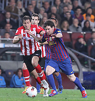31.03.2012 Barcelona, Spain. Picture shoe Leo Messi in action during La Liga match between FC Barcelona against Athletico de Bilbao at Camp Nou