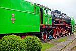 Kościerzyna, 2011-07-06. Stara lokomotywa, Muzeum Kolejnictwa w Kościerzynie, dawny Skansen Parowozownia Kościerzyna