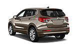 Car pictures of rear three quarter view of 2018 Buick Envision Premium-II-AWD 5 Door SUV Angular Rear