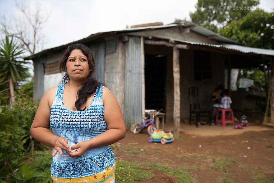 Blanca Delmi Ordóñez at her home in Teotepeque, La Libertad, El Salvador on June 9, 2015. Ordóñez gave birth in a latrine and she had not even known she was pregnant, although she already had a son. The baby was found dead in the latrine by firemen and authorities decided that this was murder. Ordóñez spent 11 months in prison. The case against her was finally dismissed. Abortion in El Salvadorisillegal. The law formerly permitted an abortion to be performed under some limited circumstances, but, in 1998, all exceptions were removed when a newabortion law went into effect. Photo by Bénédicte Desrus