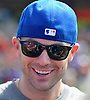 David Wright, New York Mets captain, laughs as he speaks with the media during a visit to Coleman Country Day Camp in Merrick on Monday, Aug. 8, 2016.