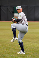 Beloit Snappers pitcher Cody Kurz (11) warms up prior to a Midwest League game against the Wisconsin Timber Rattlers on April 10th, 2016 at Fox Cities Stadium in Appleton, Wisconsin.  Wisconsin defeated Beloit  4-2. (Brad Krause/Four Seam Images)