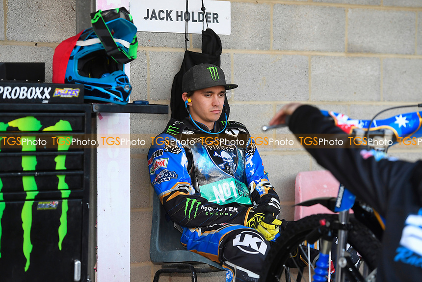 Jack Holder of Poole Pirates lost in concentration in the pits during Poole Pirates vs King's Lynn Stars, SGB Premiership Shield Speedway at The Stadium on 11th April 2019