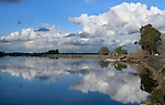 Winter clouds over Rio Vista in the Delta of northern California.