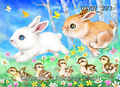 Kayomi, EASTER, OSTERN, PASCUA, paintings+++++,USKH321,#e#, EVERYDAY ,rabbits