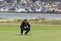 Lewys Sanges from Wales on the 3rd green during Round 2 Singles of the Men's Home Internationals 2018 at Conwy Golf Club, Conwy, Wales on Thursday 13th September 2018.<br /> Picture: Thos Caffrey / Golffile<br /> <br /> All photo usage must carry mandatory copyright credit (&copy; Golffile | Thos Caffrey)