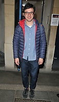 Simon Bird at the &quot;The Philanthropist&quot; theatre cast departures, Trafalgar Studios, Whitehall, London, England, UK, on Thursday 13 April 2017.<br /> CAP/CAN<br /> &copy;CAN/Capital Pictures