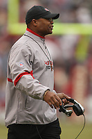 SAN FRANCISCO - DECEMBER 7:  Head Coach Mike Singletary of the San Francisco 49ers walks on the sidelines during the game against the New York Jets at Candlestick Park in San Francisco, California on December 7, 2008.  The 49ers defeated the Jets 24-14.  Photo by Brad Mangin