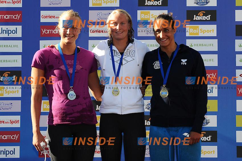 Sarah SJOESTROM Sweden, Inge Dekker Netherlands, Martina GRANSTROEM Sweden women's 100m Butterfly.Roma 14/6/2012 Foro Italico.Nuoto Swimming 49mo trofeo settecolli.Foto Andrea Staccioli Insidefoto