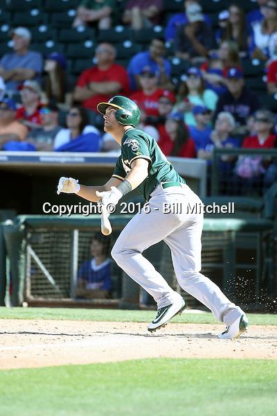 Chad Pinder - Oakland Athletics 2016 spring training (Bill Mitchell)