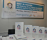 MIAMI, FL - FEBRUARY 06: General view of books on display during Tracy Martin and Sybrina Fulton sign copies of their book 'Rest In Power: The Enduring Life Of Trayvon Martin' at Miami Dade College Wolfson Auditorium on February 6, 2017 in Miami, Florida. ( Photo by Johnny Louis / jlnphotography.com )